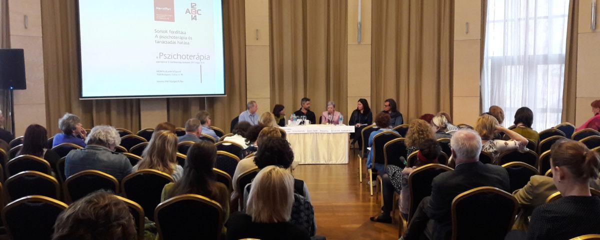 Öt nagy pszichoterápiás módszer - a Pszichoterápia folyóirat XIII. konferenciájának kerekasztal-beszélgetése 2017. május 12-én.